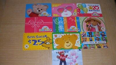 Build-A-Bear   10 different new collectible gift cards