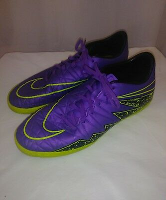 5f2f050c9 Mens Nike Hypervenom Phelon II IC Indoor Soccer Shoes 749898-550 Excellent  Cond