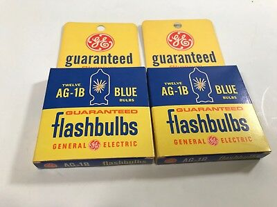Lot of 24 VTG NOS General Electric GE Flash Bulbs AG-1B Blue Flashbulbs