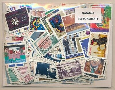 Canada US 500 stamps different