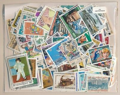 Centro Africa US 500 stamps different
