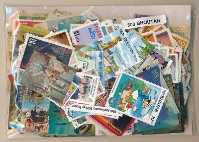Bhutan US 500 stamps different
