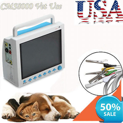 Veterinary Monitor for cat, dog animals,CMS8000-VET ECG,RESP,SpO2,PR,NIBP,TEMP
