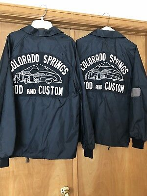 Vintage Rod Custom Car Club Colorado Springs Jacket Lot Chain Stitch Embroidered