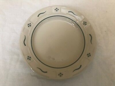 "Longaberger Pottery Woven Traditions Heritage Green dessert 7"" Plate  EUC"