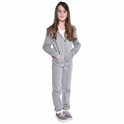 Butter Girls' Super Soft Fleece 2-piece Set Gray Medium 7/8 New