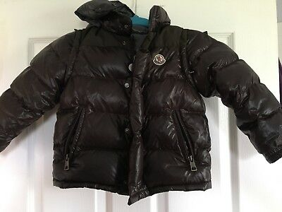 Child Moncler Heavy Down Jacket With Zip Off Arms To Make A Vest. Brown. Size 3