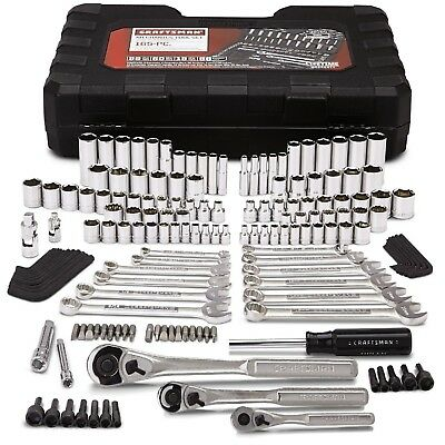 Craftsman 165 pc. Tool Set Standard Metric Socket Ratchet Wrench with Case
