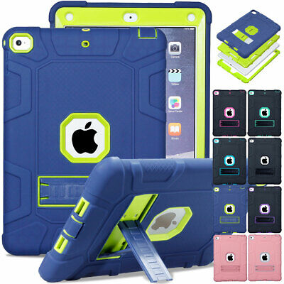 Hybrid Shockproof Heavy Duty Hard Case Cover For Apple iPad 9.7 2018 6th Gen