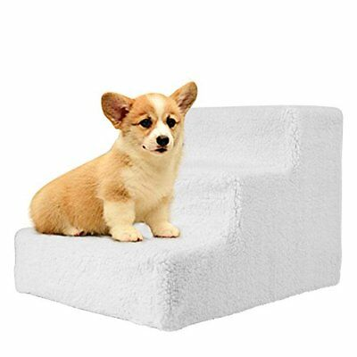 Dog Steps Pet Stairs Pet Dog Easy Climb Fleece Covered Pet Stairs With Removable