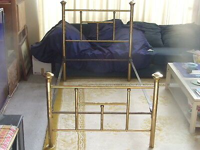 "Rare Single Twin Size Antique Brass Bed  41"" By 74""  Pickup Only So Cal"