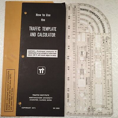 VINTAGE POLICE INVESTIGATOR\'S Traffic Accident Template & Calculator ...
