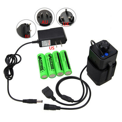 Rechargeable 4X18650 2400mAh 8.4V Bike Bicycle Light Battery Pack With Box