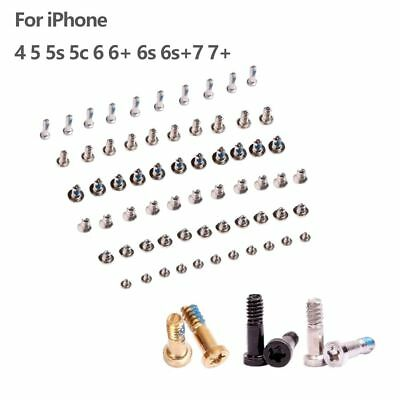 Full Screw Set + 2 Bottom Star Screws Repair Parts For iPhone 4 5 5s 5c 6 7 Plus