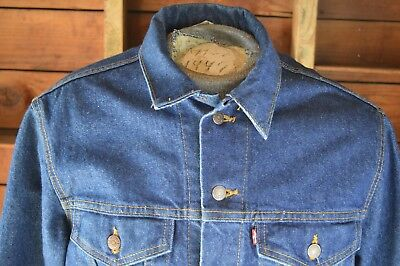 Rare! Vintage 1980's USA, Levi's Type III trucker jacket, M, Excellent cond.