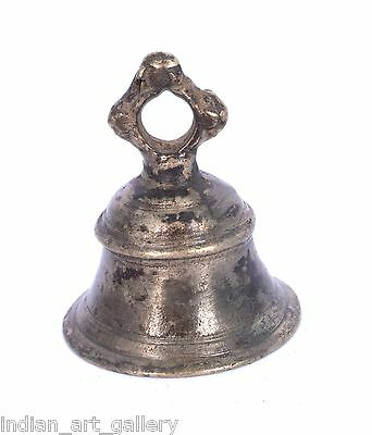 Rare Vintage Handicraft High Age Brass Ritual Temple Bell, Good Sound. i9-26