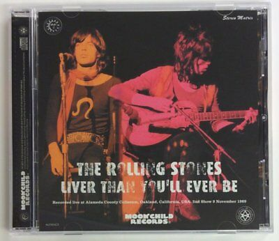 """Rolling Stones """"liver Than You'll Ever Be"""" 1969, 1-Cd, Aud, Moonchild"""