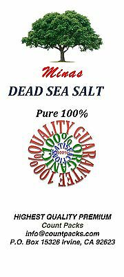 3 LB Dead Sea Salt Pure 100%  Free Shipping Authentic Fine Grain BULK