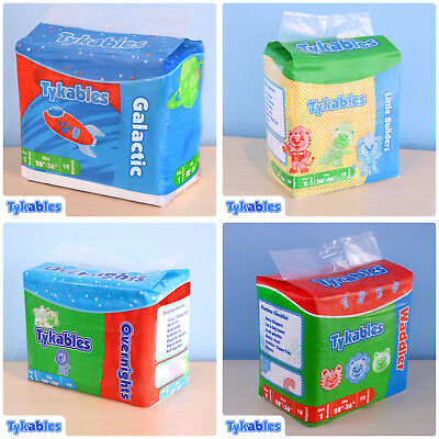 Tykables Mixed - Size 1 (Medium) - Case - 4 Packs of 10