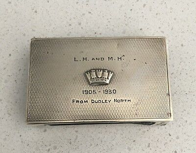 Antique sterling silver matchbox holder