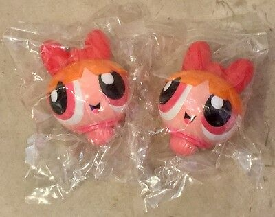 "2 NEW Kellogg's POWERPUFF GIRLS Spinner Top ""Blossom"" - Collectible Toy, 2003"