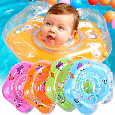 Baby Swimming Neck Float Infant Bath Ring Inflatable Safety Age 0-18 Months UK