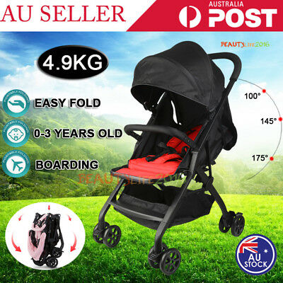 Portable Foldable Baby Stroller Lightweight Compact Jogger Pram Carry-on Travel