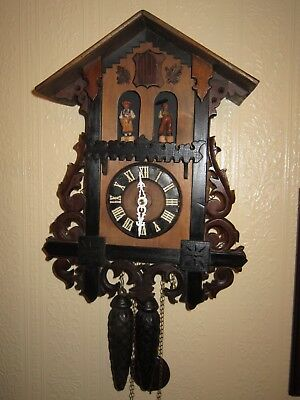 Antique Cuckoo Clock ,Bahnhausle weather house, circa 1900 by Gordian Hettich