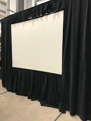 Dalite Fastfold Front & Rear Projection Screen 8x6 4:3 Ratio With Black Drape