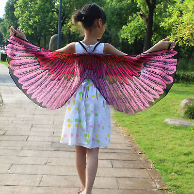 Child Girl Kid Cloak Fairy Butterfly Bird Costume Wings Cosplay Fancy Dress New
