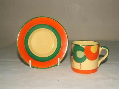 Edna Best Art Deco Handpainted Abstract  Cup & Saucer Truly Stunning
