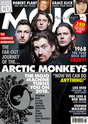 Mojo Magazine + Cd (June 2018) Arctic Monkeys, Robert Plant, Grace Slick