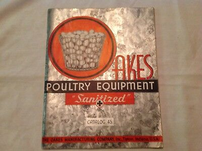 1938 Oakes Poultry Equipment Catalog, Great Information