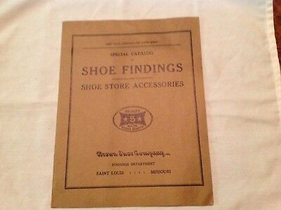 Brown Shoe Company Shoe Findings Catalog From Turn Of Century