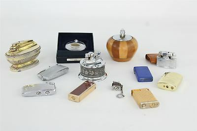 Lot of 12 x Vintage Lighters inc RONSON , ZIPPO , Table , Floral , Wooden 1222g