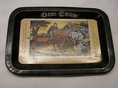 Collectible Old Crow Whiskey Advertising Tray - National Distillers.., NY, OLD