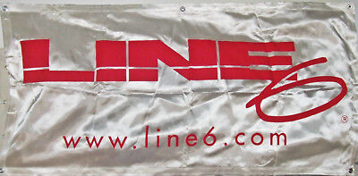 Line 6 amplifiers satin dealer banner, LARGE 47 inces by 23 inches, not a repro!