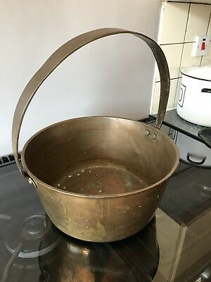 Large Victorian Copper Jam Pan