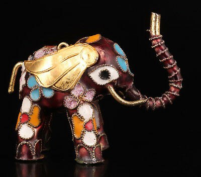 Vintage Chinese Collection Handmade Mini cloisonne elephant