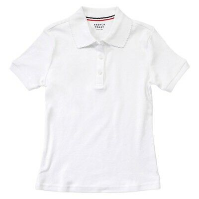 French Toast Girls' Short Sleeve Picot Polo