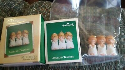 Hallmark Miniature Ornament Angel in Training (2002) New in Box