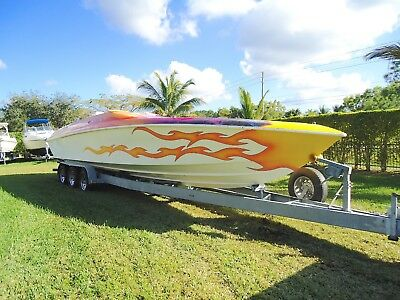 1995 MAGIC SORCERER 34' twin 2014 Mercruiser V8 7.4L Good Condition