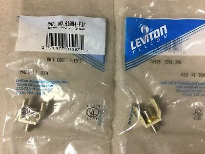 Leviton 41084-FIF Coax Cable Jack-Lot of 2 New in Bag