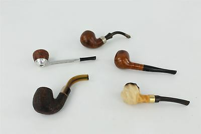 Lot of Vintage 5 x Smoking Pipes inc Carey Magic Inch & Falcon , Wooden etc 200g