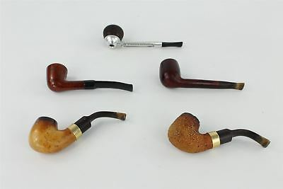 Lot of Vintage 5 x Smoking Pipes inc Barling , Falcon , Wooden , Metal etc 236g