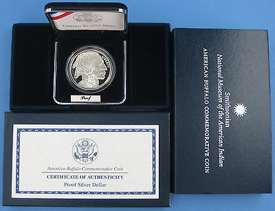 2001 Buffalo Commemorative Proof Silver Dollar with Box & COA
