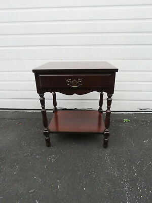 Mahogany Nightstand End Side Table 8722