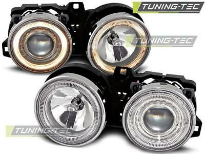 Coppia Fari Anteriori Bmw E30 11.82-06.94 Angel Eyes Chrome*349