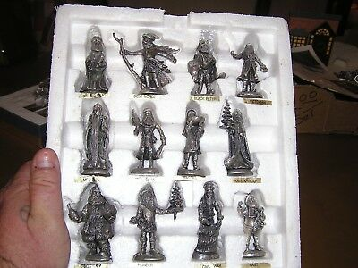 12 Duncan Royale History Of Santa Pewter Figurines Minatures Christmas 1St/500