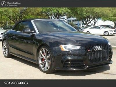 2015 Audi RS5  AUDI RS5 RS 5 CABRIOLET S TRONIC, 125 PT INSP & SVC'D, WARRANTY, 1 OWNER!!